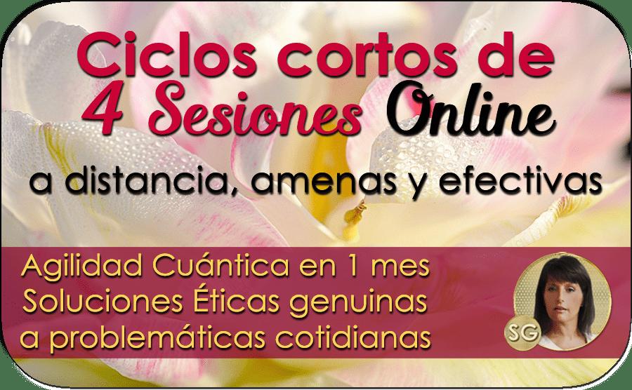 Ciclos cortos de 4 Sesiones Online de Terapia Cuántica